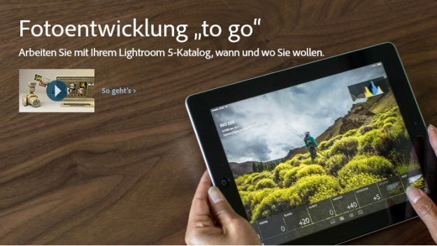 Screenshot von adobe.com