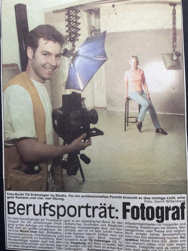 Ein BILD-Bericht über den Ausbildungsberuf Fotograf von vor 20 Jahren …