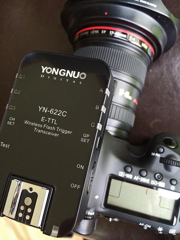 Drahtloses e-TTL-Blitzen mit dem Yongnuo YN-622C